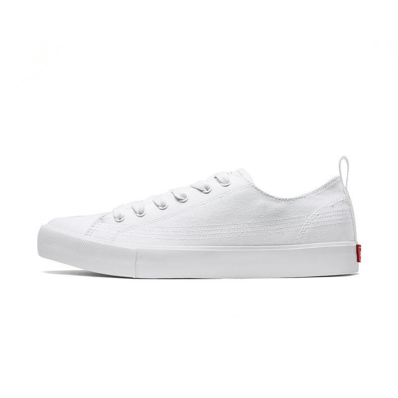 特步 男子帆布鞋 2019春新款轻便舒适简约板鞋休闲鞋881119109267