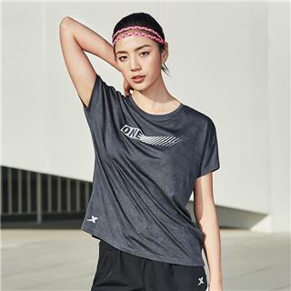 特步 女子短袖针织衫 新款柔软透气舒适运动短袖881228019110