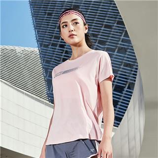 特步 女子短袖针织衫 2019夏新款柔软透气舒适运动短袖881228019110
