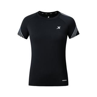 特步 专柜款 女子马拉松短袖针织衫 2019春夏新款跑步透气舒适短袖981128012489