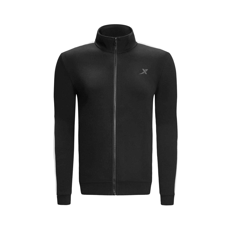 特步 专柜款 男子外套 2019春季新款轻便舒适针织拉链运动上衣981129061844