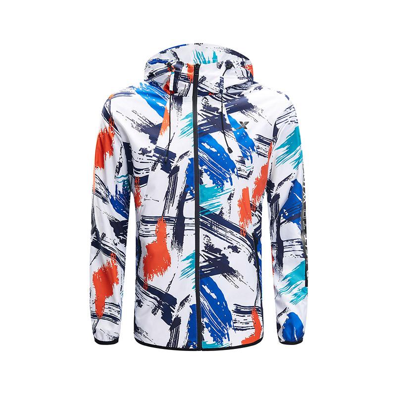 特步 专柜款 男子运动上衣 2019春季新款舒适休闲双层风衣外套981129150431