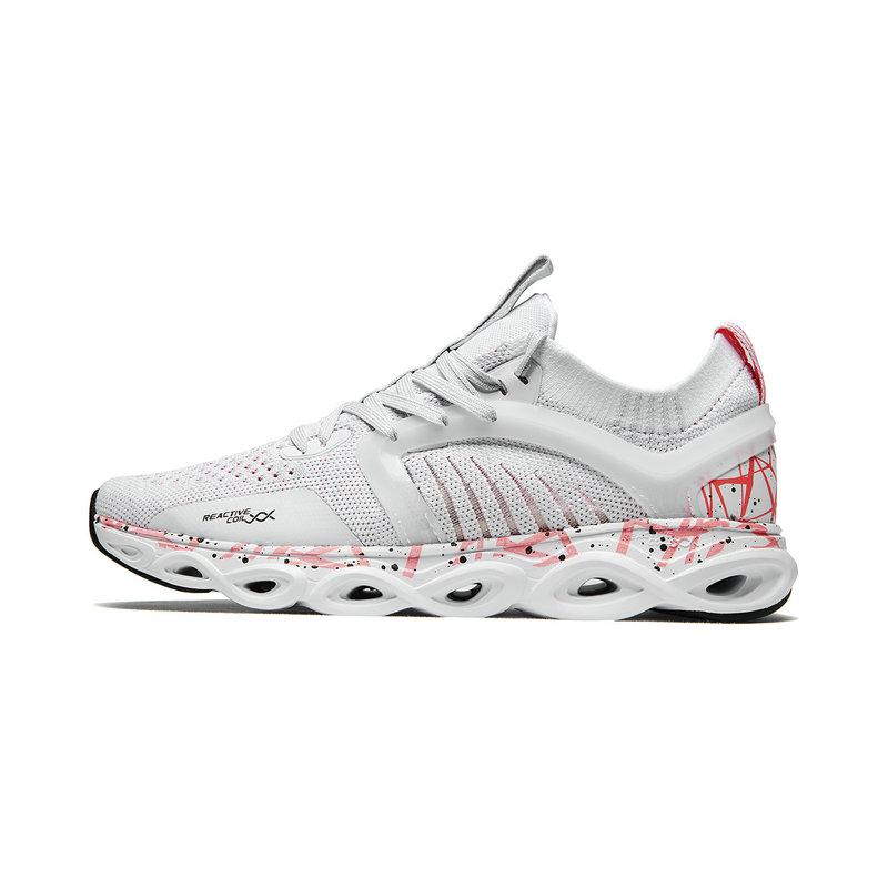 【减震旋科技】特步 专柜款 女子跑鞋 2019春夏新款一体飞织网面透气袜套运动鞋981218110216