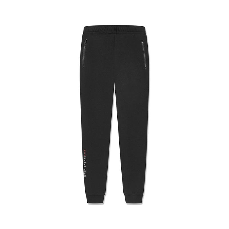 特步 专柜款 女子针织九分裤 2019春新款舒适运动小脚裤981128840037