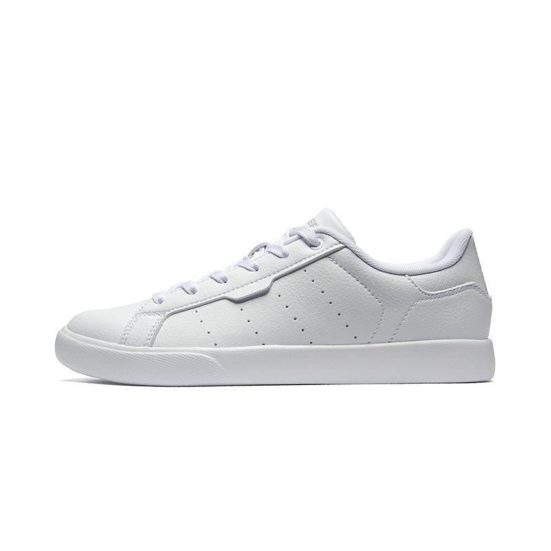 特步 专柜款 女子板鞋 夏季新款休闲简约时尚百搭小白鞋981218316172