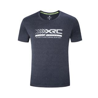 特步 专柜款 男子短袖针织衫 透气干爽跑步T恤981229012582