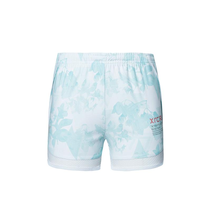 特步 专柜款 女子梭织运动短裤 19夏新款透气舒适跑步短裤981228240163