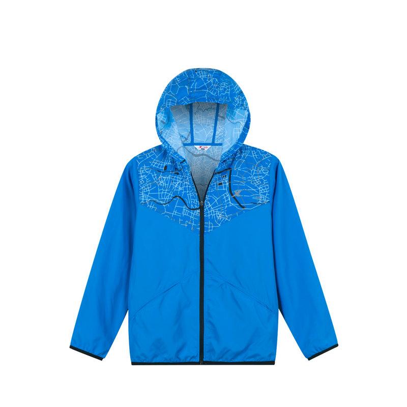 特步 专柜款 男童风衣 儿童时尚连帽拉链外套682125234158