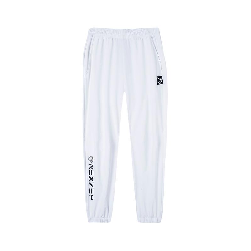 【乐华七子NEXT】特步 运动裤男女2019夏季新款梭织九分裤情侣款881227A39514