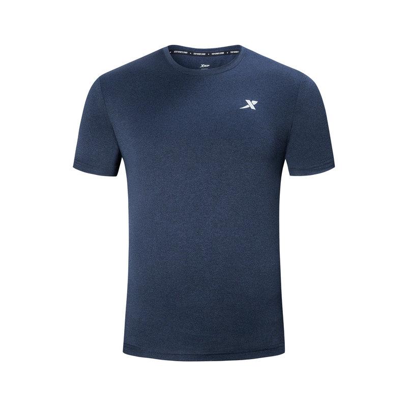 【2件99】特步 短袖T恤男 2019夏季新款运动T恤透气轻薄男装上衣881229019273