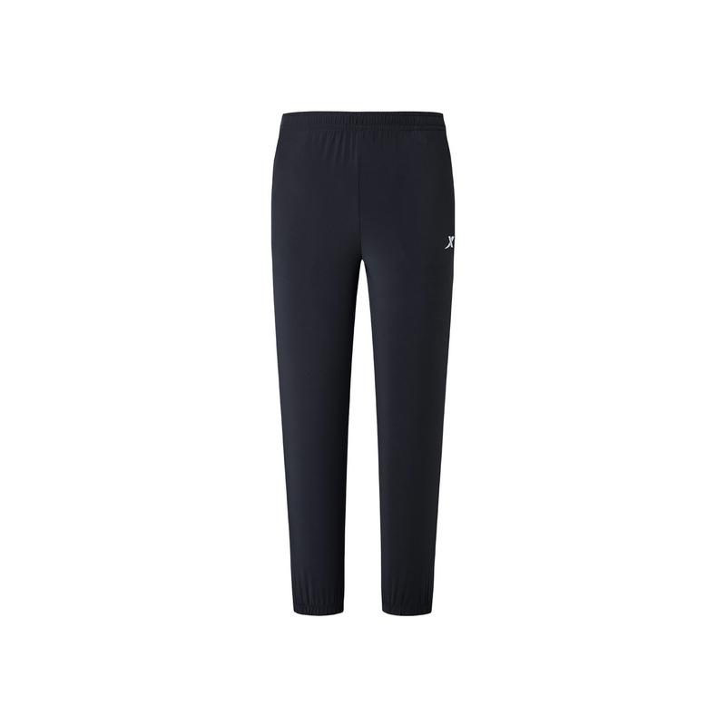 特步 专柜款 男子夏季跑步运动舒适透气梭织长裤981229980241