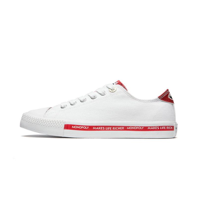 【地产大亨】特步 女子帆布鞋 19夏新款时尚潮流百搭鞋881218109862