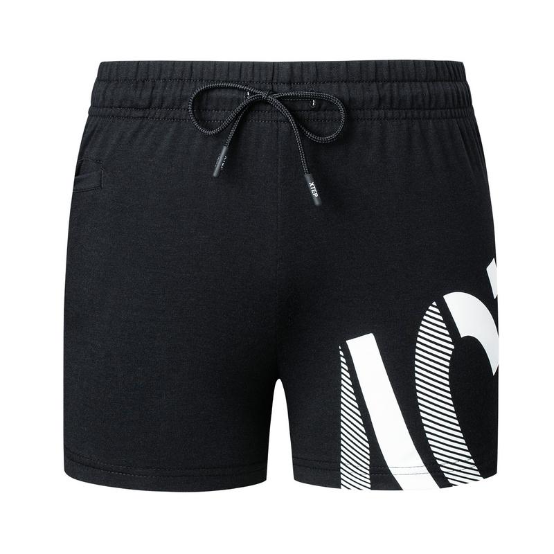 特步 女子针织短裤 19夏新款运动舒适休闲跑步瑜伽短裤881228609117
