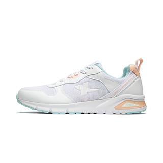 特步 专柜款 女子休闲鞋 19夏新款舒适潮流网面运动鞋981218326915