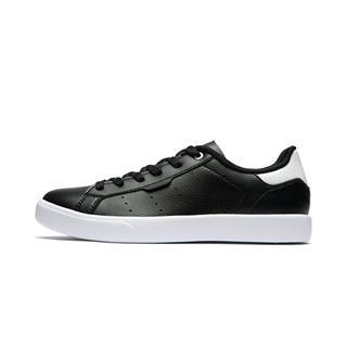 特步 专柜款 男子板鞋 运动男休闲鞋革面板鞋绿尾小白鞋981219316285