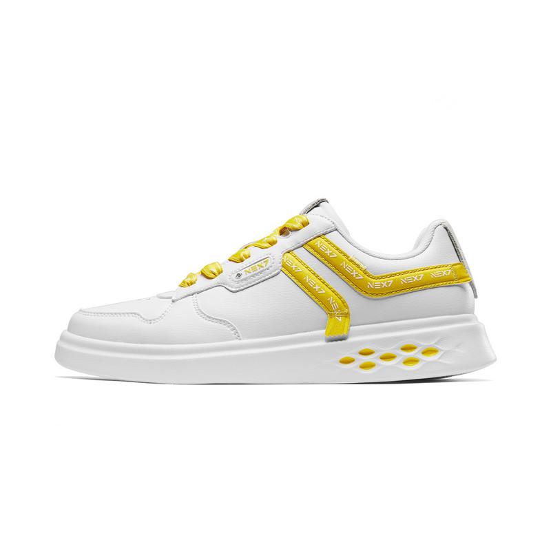 【乐华七子next同款】特步 女子板鞋 19夏新款舒适穿搭系带防滑时尚鞋881218319108