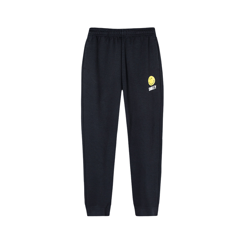 特步 【SMILEY联名款】女子夏季新款运动时尚百搭针织长裤881228639190