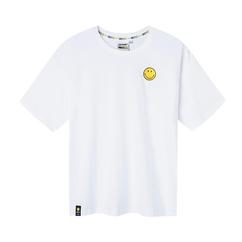 特步 【SMILEY联名款】男子夏季新款舒适透气时尚百搭针织衫短袖881229019256