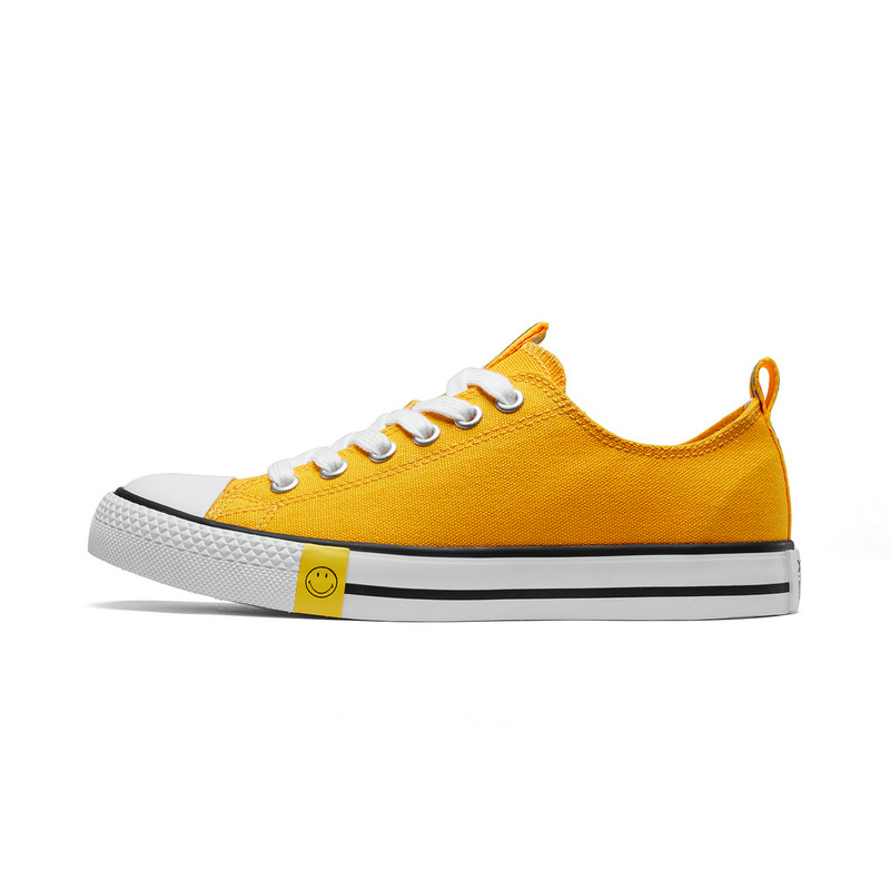 【Smiley联名款】特步 女子帆布鞋 19夏新款时尚笑脸舒适简约鞋881218109127