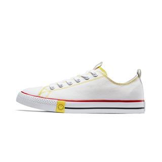 【Smiley联名款】特步 女子帆布鞋 时尚笑脸舒适简约鞋881218109127