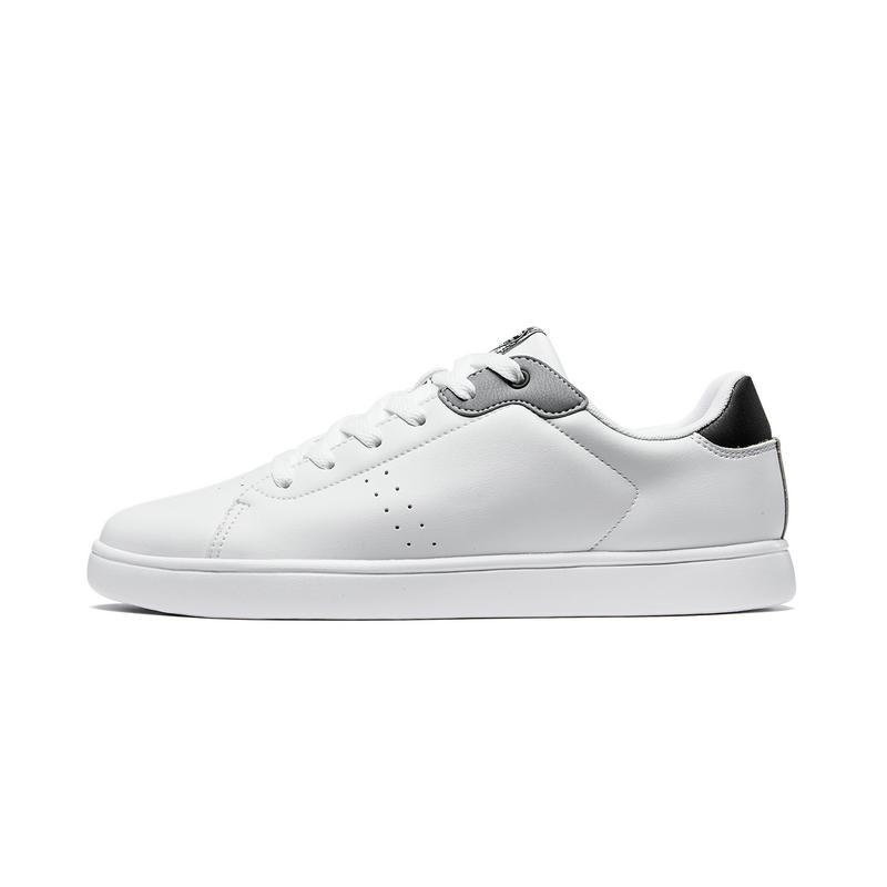 特步 男子板鞋 19夏新款革面系带舒适滑板鞋881219319816