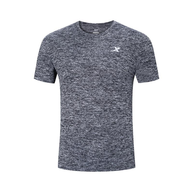 特步 男子短袖针织衫 19夏新款舒适透气运动T恤881229019260