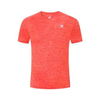 特步 男子短袖针织衫 舒适透气运动T恤881229019260