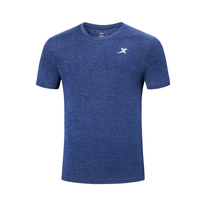 【释冰科技】特步 男子短袖针织衫 19夏新款透气舒适健身运动T恤881229019261