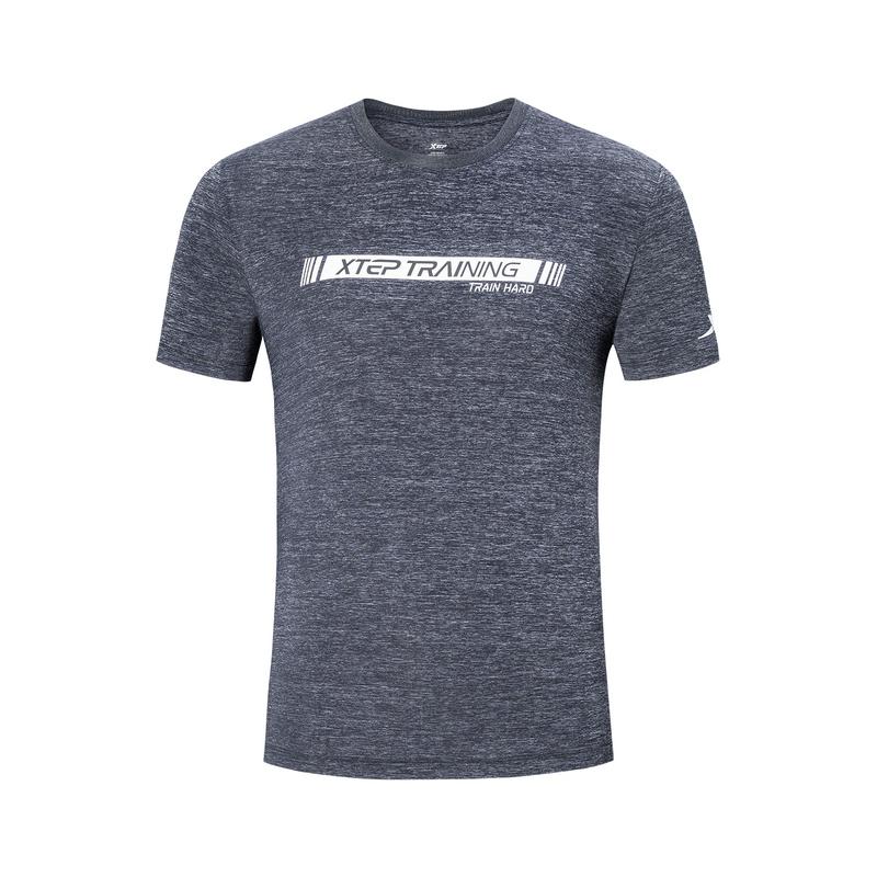 特步 男子短袖针织衫 19夏新款柔软舒适轻薄运动T恤881229019263