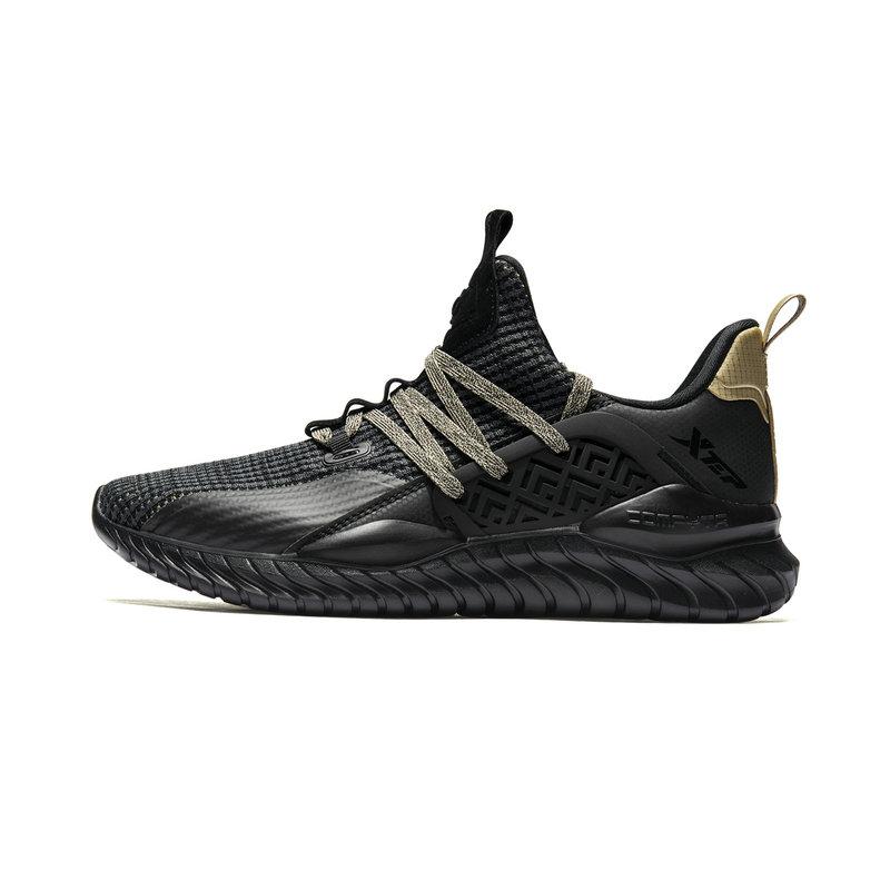 特步 专柜款 男子综训鞋 19新款时尚系带网面运动鞋981119520703