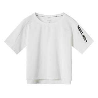 特步 专柜款 女子短袖针织衫 夏新款时尚都市宽松短袖981228012642