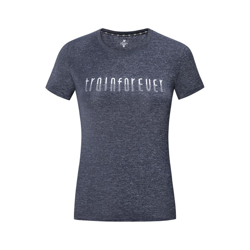 【释冰科技】特步 女子短袖针织衫 19夏新款景甜同款轻薄透气女装981228012655