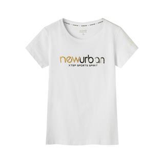 特步 专柜款 女子短袖针织衫 夏新款字母印花潮流透气上衣981228012663