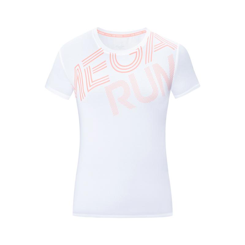 特步 专柜款 女子短袖针织衫 19夏新款跑步透气轻薄运动T恤981228012705