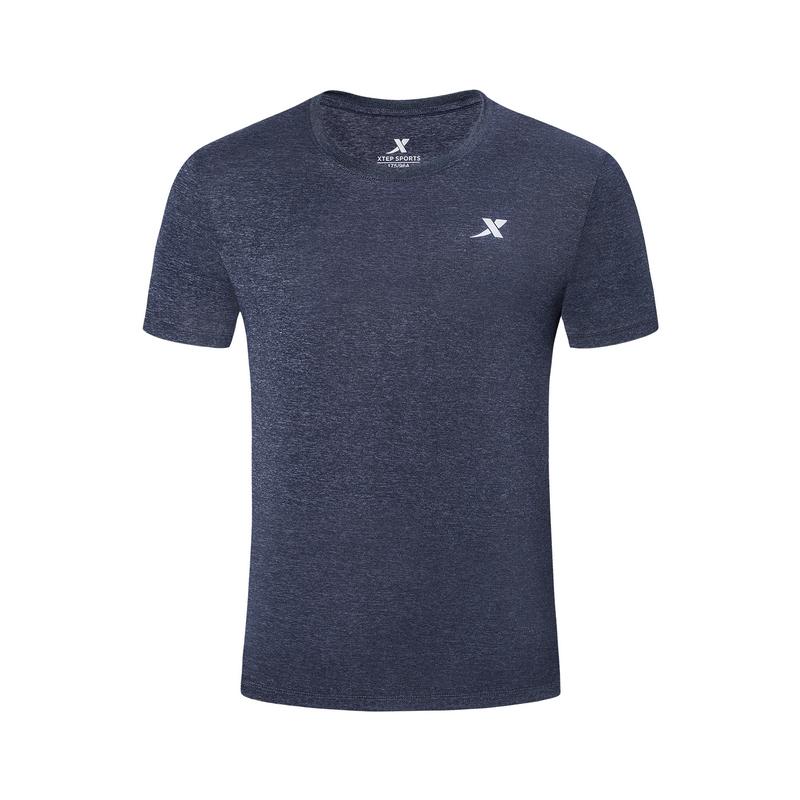 特步 专柜款 男子新款综训运动舒适透气吸汗薄款短袖T恤981229012776