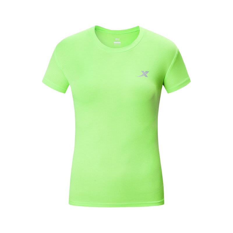 特步 女子短袖T恤 2019夏季新品运动T恤时尚透气T恤衫圆领运动跑步上衣881228019284
