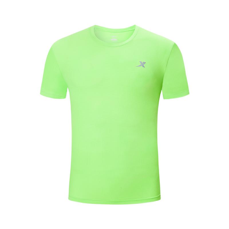 特步 男子短袖T恤 2019夏季新品运动T恤时尚透气T恤衫圆领短T运动跑步上衣881229019283