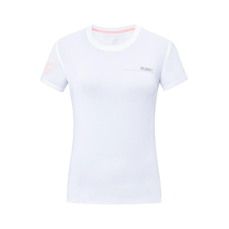 特步 专柜款 【释冰科技】女子短袖 夏季针织透气轻薄吸汗字母运动T恤981228012727