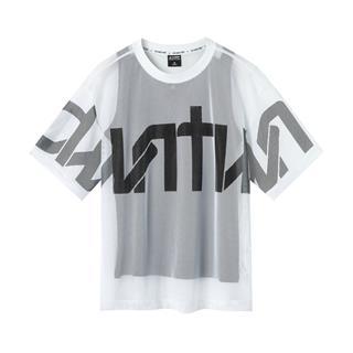 【景甜同款】特步 专柜款 女子短袖 透气时尚圆领针织两件套T恤981228410031
