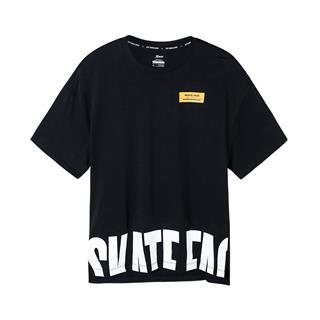 特步 男子短袖针织衫 19夏新款字母时尚休闲短袖881229019128