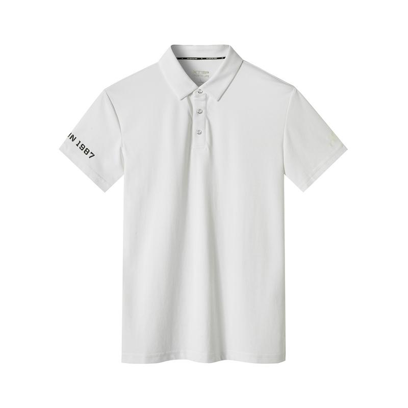 特步 专柜款 男子新款都市休闲时尚百搭针织polo衫短袖981229021097