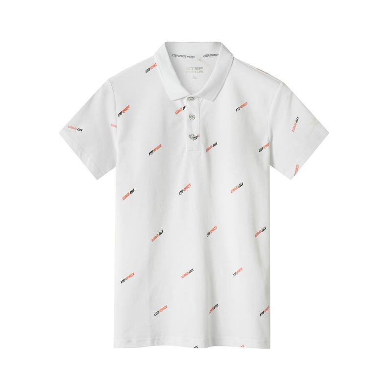 特步 专柜款 男子都市活力时尚百搭polo衫短袖T恤981229021112