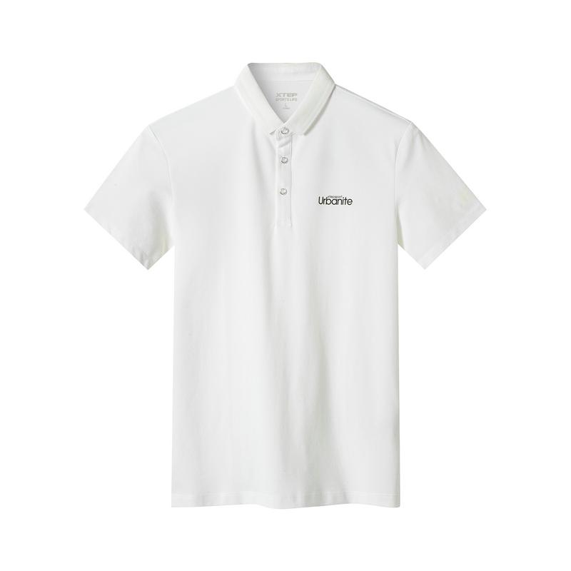 特步 专柜款 男子夏季都市休闲运动时尚百搭短袖polo衫981229021099