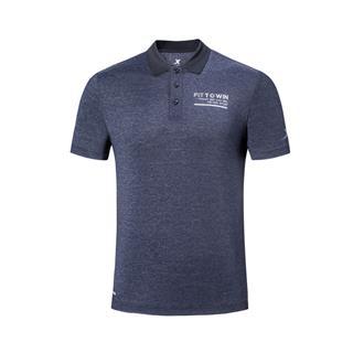 特步 专柜款 男子都市夏季运动时尚舒适透气短袖polo衫 981229021101