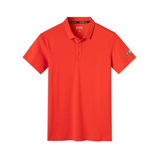 特步 专柜款 男子夏季活力时尚百搭舒适透气针织短袖polo衫981229021113