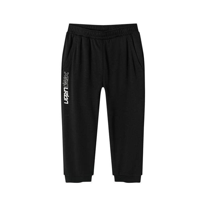 特步 专柜款 女子短裤 2019夏季新款时尚休闲七分针织裤981228620274