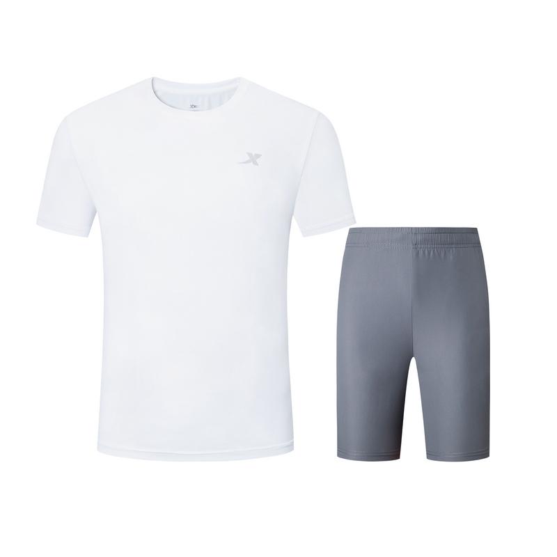 特步 男子夏季新款运动跑步舒适透气两件套881229959305