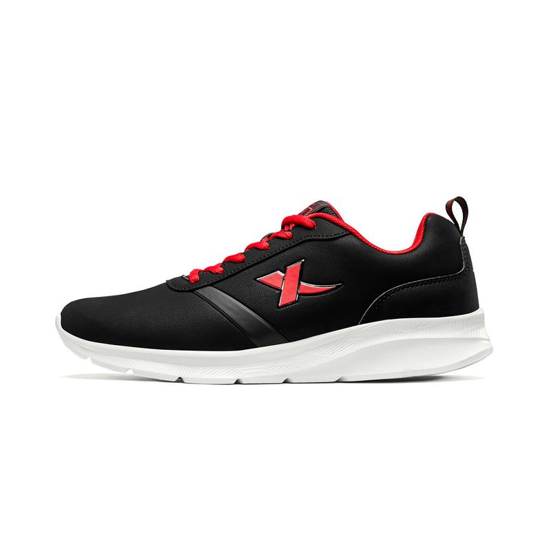 特步 男子革面运动鞋减震耐磨防滑跑步鞋881119119551