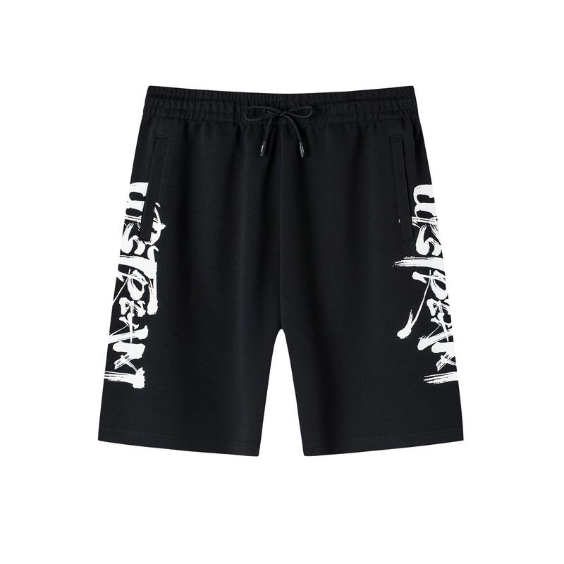 【怪诞星球】特步 男子针织短裤 19夏新款中国风五分裤881229609290