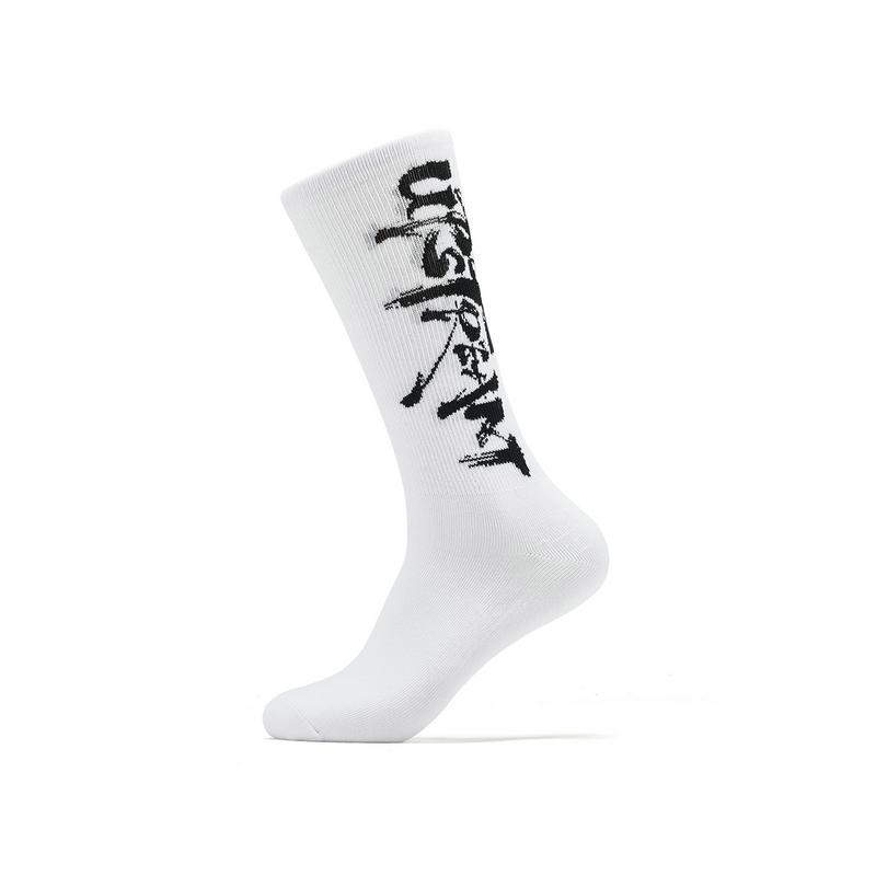 【怪诞星球】特步 男子平板长袜 19夏新款运动休闲新中国风个性长袜881239569052